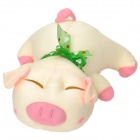 Cute Piggy Soft Bamboo Charcoal Deodorant Doll - Cream + Pink