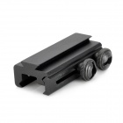 Aluminum Alloy 20mm to 11mm Weaver Rail Mount Adapter for Airsoft - Black