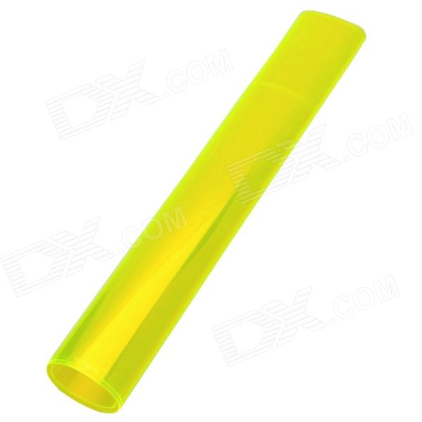 DIY Car Headlamp Light PVC Sticker - Fluorescent Yellow (120cm)
