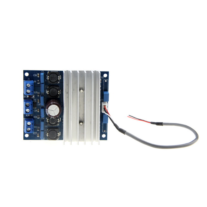 FX138 2 x 50W TDA7492 Digital Power Audio Amplifier Circuit Board - Blue + Silver line5 black and gold a965 100w bluetooth wireless digital power amplifier hifi power amplifier power