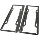 Aluminum License Plate Frame Holder Bracket for Car / Vehicle - Black (Pair)