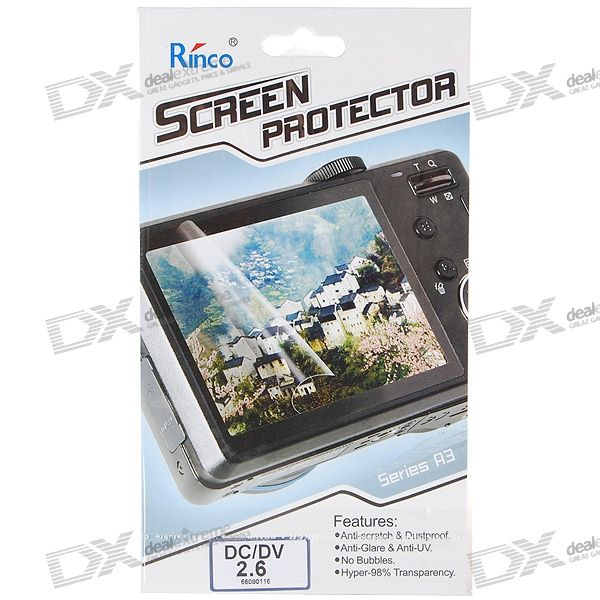 "Rinco 2.6"" LCD Screen Protector for Digital Cameras/DV Camcorders"