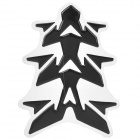 Cool Fishbone Style Motorcycle Decorative Sticker for Honda / Yamaha / Suzuki / Kawasaki - Black