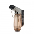 Windproof 2000'C Dual Flame Butane Jet Torch Lighter - Tawny + Black + Silver
