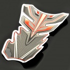 JY042 Protective Fish Bone Style Motorcycle Oil Tank Sticker - Black + Red + White + Grey