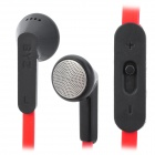 BYZ MS-1200 In-Ear Headphone w/ Volume Key for iPad / MP3 / MP4 - Red + Black