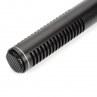 Professional Stainless Steel Condenser Interview Recording Microphone - Black