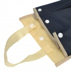 Waterproof Fabric Mountable Umbrella Bag Holder for Car Use - Dark Blue + Cream