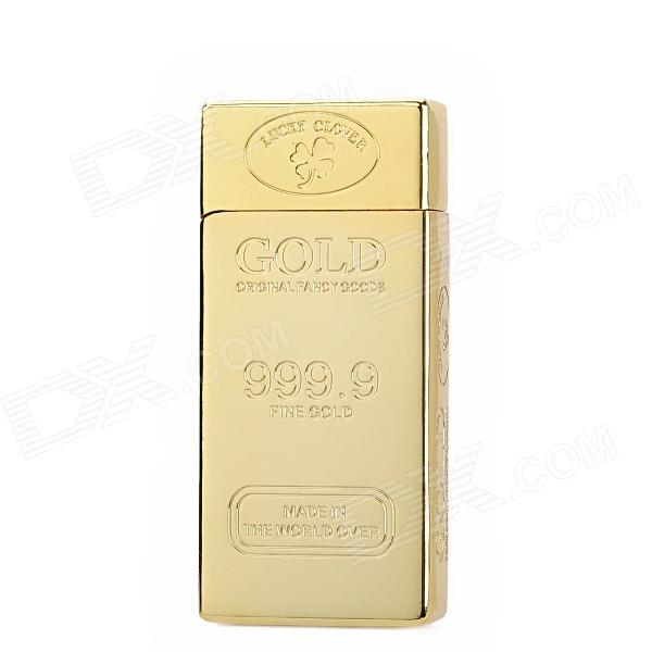 Zinc Alloy Gold Bar Shape Butane Gas Lighter - Golden