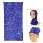 B13 Multifunction Outdoor Polyester Microfiber Seamless Head Scarf - Blue