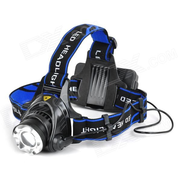 2-in-1 300lm 3-Mode Neutral White LED Headlamp Bicycle Light w/ Cree XM-L T6 - Black (2 x 18650)