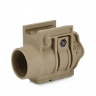 FLH Quick-Release Flashlight Holder for 20mm Rail Gun - Grey (30mm-Diameter)