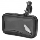 Bike Protective Water Resistant Bag w/ Mounting Holder for Cellphone / Navigator - Black