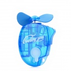 Portable Water Spray Fan with Carabiner Clip - Blue (1 x AA)