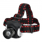 1018 Rechargeable Cree XP-E Q5 150lm 3-Mode Cool White Zoom LED Headlamp - Black + Red
