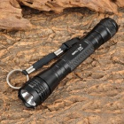 Small Sun ZY-201 50lm LED White Flashlight w/ Strap - Black (2 x AA)
