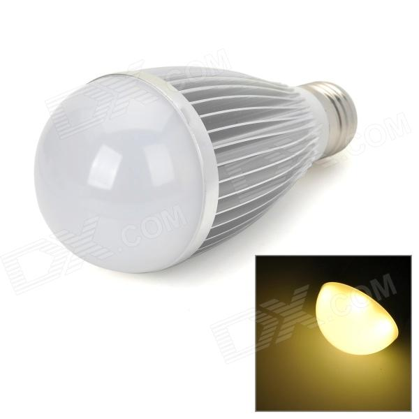 E27 7W 450lm 3500K Warm White LED Ampoule - Argent (85 ~ 265V)