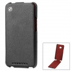 HOCO Up-Down Flip-Open Leather Case for HTC ONE M7 - Black