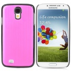 TEMEI Protective Plastic + Aluminum Alloy Back Case for Samsung Galaxy S4 / i9500 - Purple Red