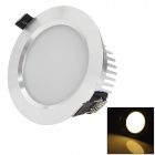 HIWIN HTD693 7W 370lm 3200K 14-SMD 5730 LED Warm White Ceiling Lamp - Silver (AC 85~265V)