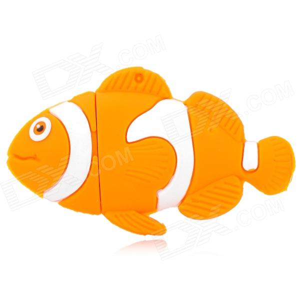 XY-20 Goldfish Style USB 2.0 Flash Drive - Yellow + White (32GB)