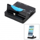 Micro USB Data Sync / Charging Dock Station Stand + 2-Port USB 2.0 Port + Multifunction Card Reader