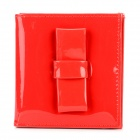 Fashion Bow Style PU Leather Wallet Purse for Women - Red