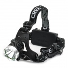 NITEFIRE NFC-19 Cree XM-L T6 450lm 3-Mode White Headlamp - Black (2 x 18650)