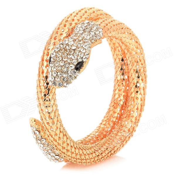 Snake Style Zinc Alloy Bracelet for Women - Golden fashion talons style zinc alloy bracelet golden