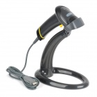 SMQXYL880ATW Handheld USB Wired Visible Laser Barcode Scanner w/ Holder - Graphite Grey