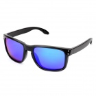7849 Retro UV400 Protection PC Frame Resin Lens Sunglasses - Black