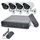 4-CH H.264 D1 Network DVR w/ 4-420TVL 22-IR LEDs Security Cameras Surveillance System (NTSC)