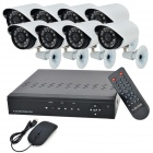 8-Channel H.264 Network Surveillance DVR w/ 8 Outdoor 420TVL 24IR LEDs Security Cameras (NTSC)