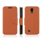 ENKAY Protective PU Leather Case Cover w/ Stand for Samsung Galaxy S4 i9500 - Orange