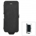 A6L 2500mAh Rechargeable External Battery Back Case w/ PU Leather Cover for iPhone 5 - Black