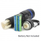 C30 100lm 3-Mode White Zooming Flashlight w/ Cree XP-E Q3 - Black + Blue (3 x AAA)