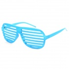 SENLAN 7001 Window Shutter Style Party Fashion Glasses - Blue