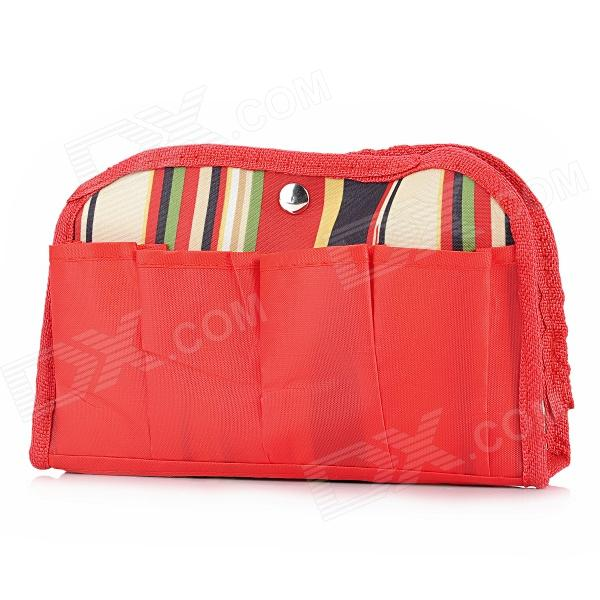 S7010 6-Pockets Oxford Fabric Storage Bag - Red