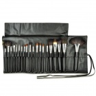 MAKE-UP FOR YOU 20-in-1 Cosmetic Brushes Set - Black + Silver