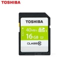 TOSHIBA SD-K16GR7WA SDHC Memory Card - Black (Class 10 / 16GB)