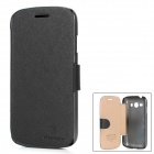 NILLKIN Protective Leather + PC Flip-Open Case für Samsung I829 / Galaxy Design Duos - Schwarz