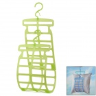 LC 33411 Multifunction Drying Laundry Rack w/ Hock for Plush Toy Pillow - Green