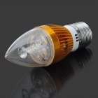 TOHDA TH-LEDjz-3N E27 3W 140lm 3500K 3-LED Warm White Bulb - Golden + Silver (AC 85~265V)