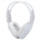 Stylish Folding Adjustable Headphones w/ TF / FM - White