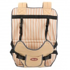 TCZT0011 Car Safety Cotton Seat Cover Bag Cushion - Beige + Black