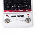 "NUX 1.8 ""LCD Time Force Delay guitarra pedal de efectos - Blanco + Negro"