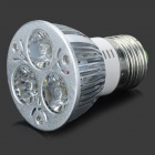 TH-SDLEDE27-3 E27 3W 140lm 6500K 3-LED White Spot Lamp - Silver (AC 85~265V)