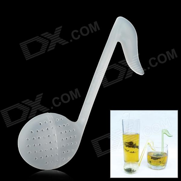 Stylish Musical Note Style PP Tea Strainer Spoon - White