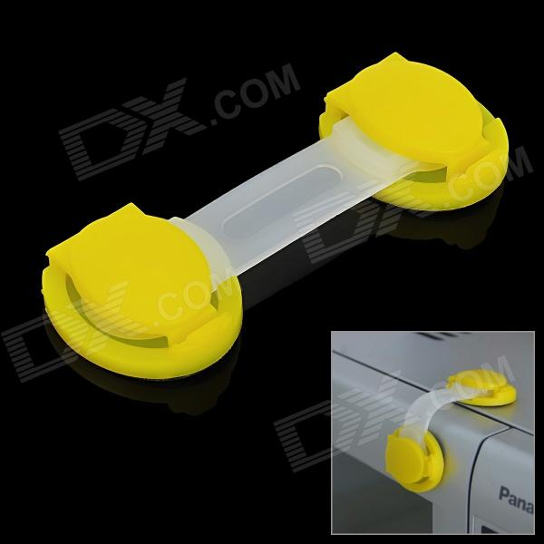 XY-02 Multifunction Baby Safe Drawer Lock - Yellow + Translucent White