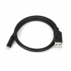 Flexible Neck Lighting 8-Pin Male to USB 2.0 Male Data / Charging Stand Cable for iPhone 5 - Black
